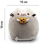 Комплект Мягкая игрушка кот с печеньем Pusheen cat и Игрушка интерактивная Happy Monkey (vol-664), фото 3