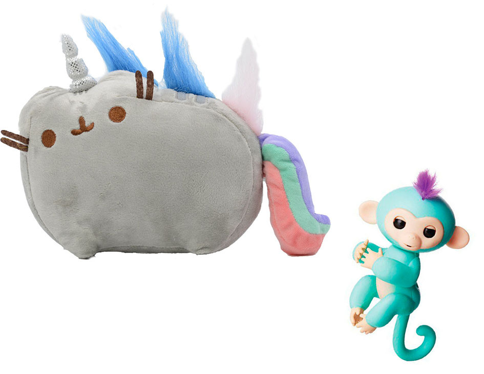 Мягкая игрушка кот-единорог радуга Pusheen cat + Подарок (n-667)
