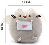 Мягкая игрушка кот с письмом Pusheen cat + Подарок (n-673), фото 3