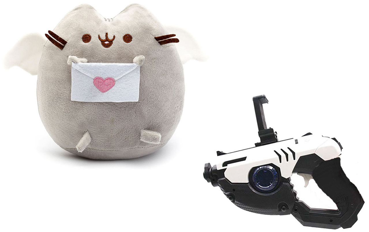 Мягкая игрушка кот с письмом Pusheen cat + Подарок (n-673)