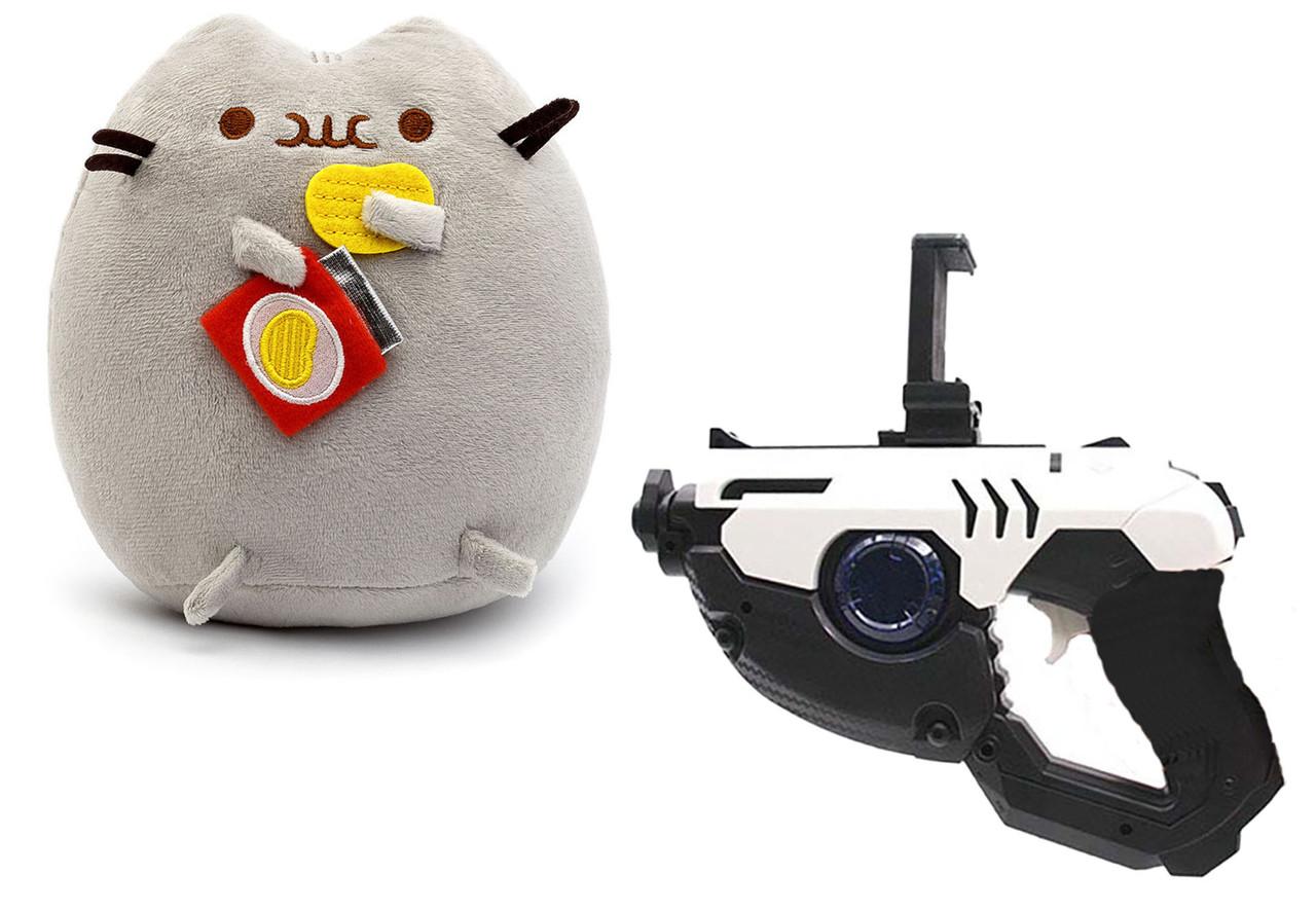 Мягкая игрушка кот с чипсами Pusheen cat + Подарок (n-674)