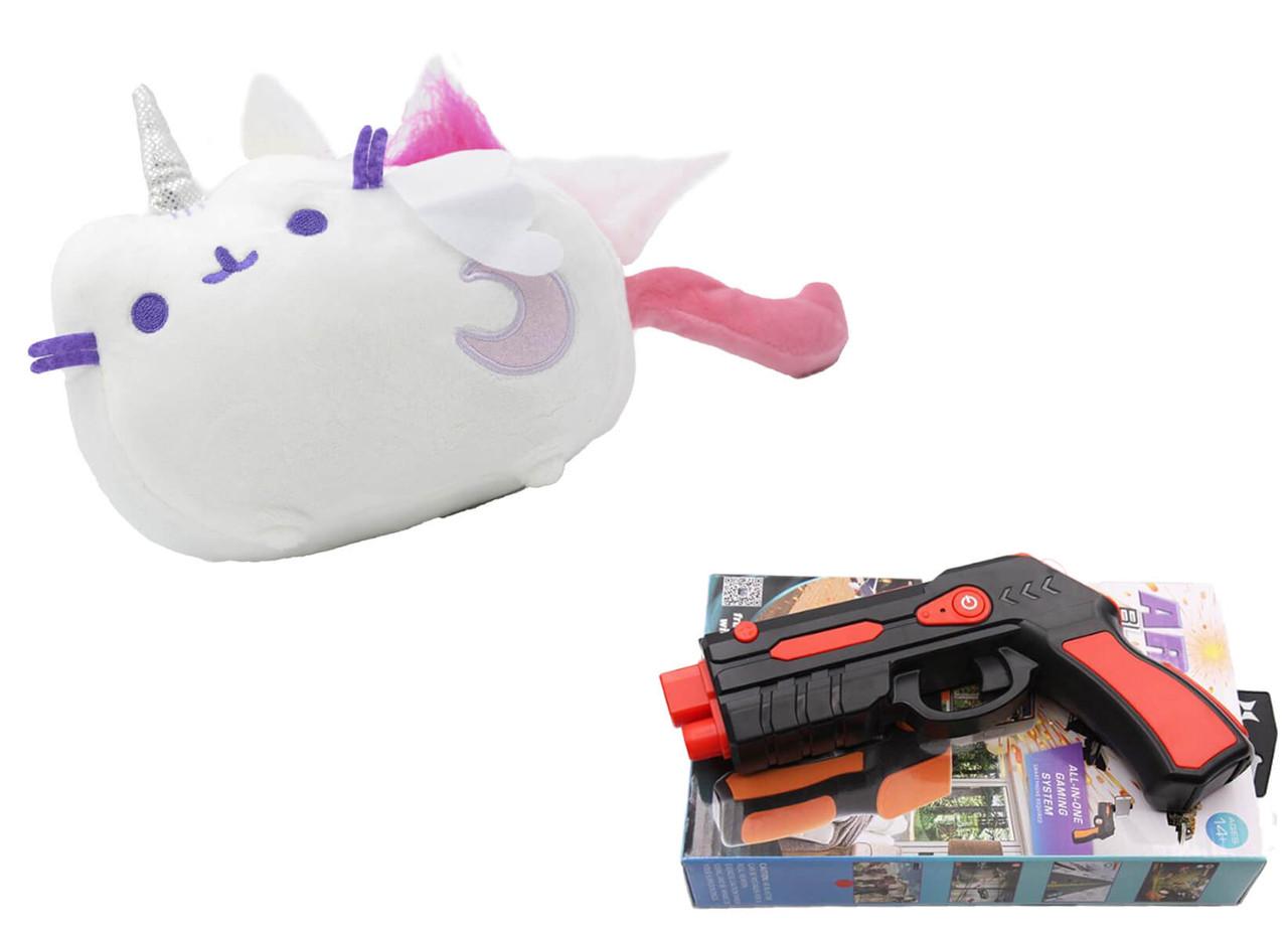Мягкая игрушка кот лунный единорог Pusheen cat + Подарок (n-693)