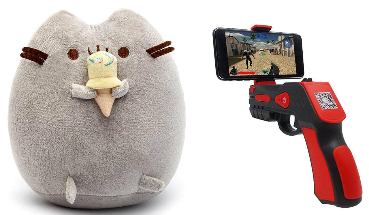 Мягкая игрушка кот с мороженым Pusheen cat + Подарок (n-696)