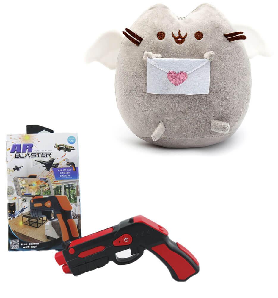 Мягкая игрушка кот с письмом Pusheen cat + Подарок (n-697)