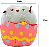 Мягкая игрушка кот в яйце Pusheen cat + Подарок (n-702), фото 4