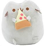 Мягкая игрушка кот с кусочком пиццы Pusheen cat + Подарок (n-703), фото 4