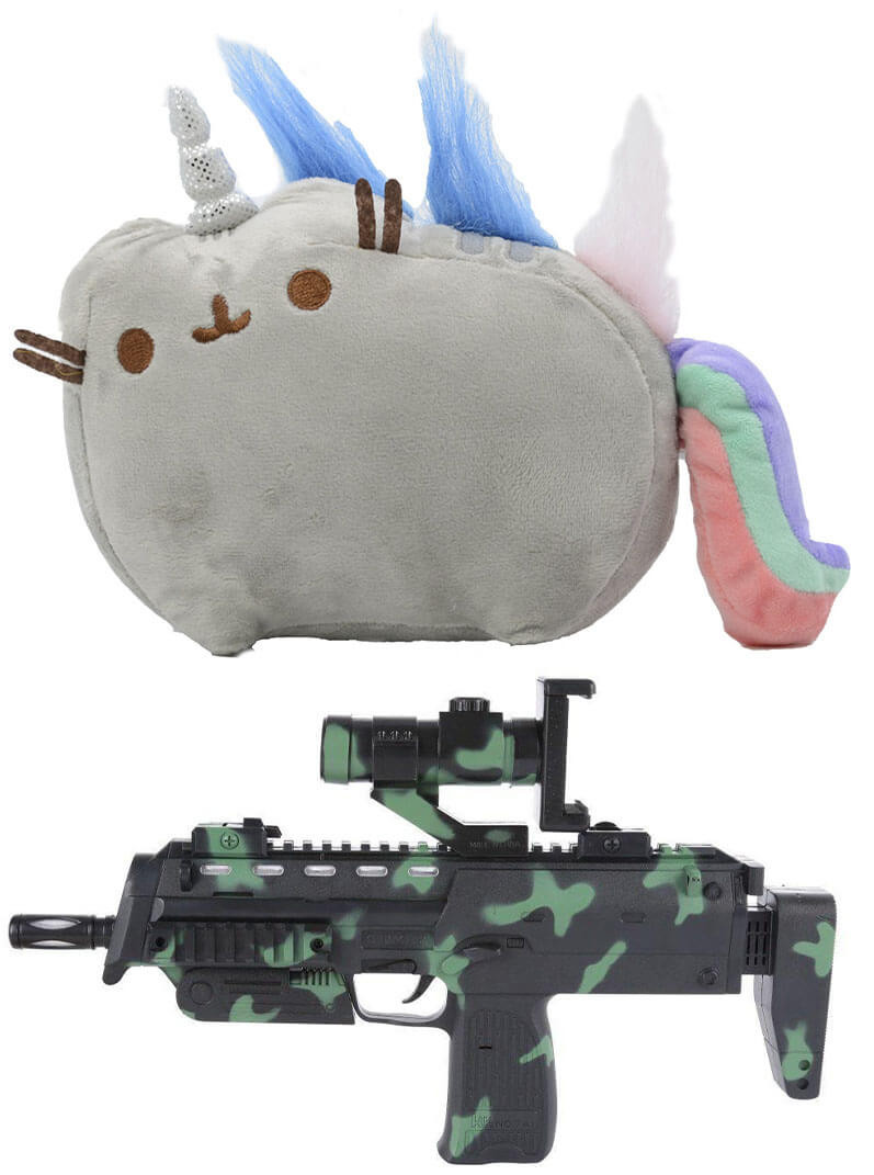 Мягкая игрушка кот-единорог радуга Pusheen cat + Подарок (n-704)