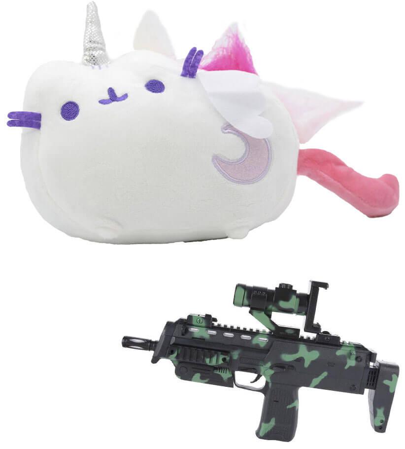 Комплект Мягкая игрушка кот лунный единорог Pusheen cat и Автомат дополненной реальности (vol-705)