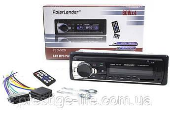 Автомагнитола 1DIN Polarlander JSD 520 для автомобиля поддержка USB/SD card и Bluetooth