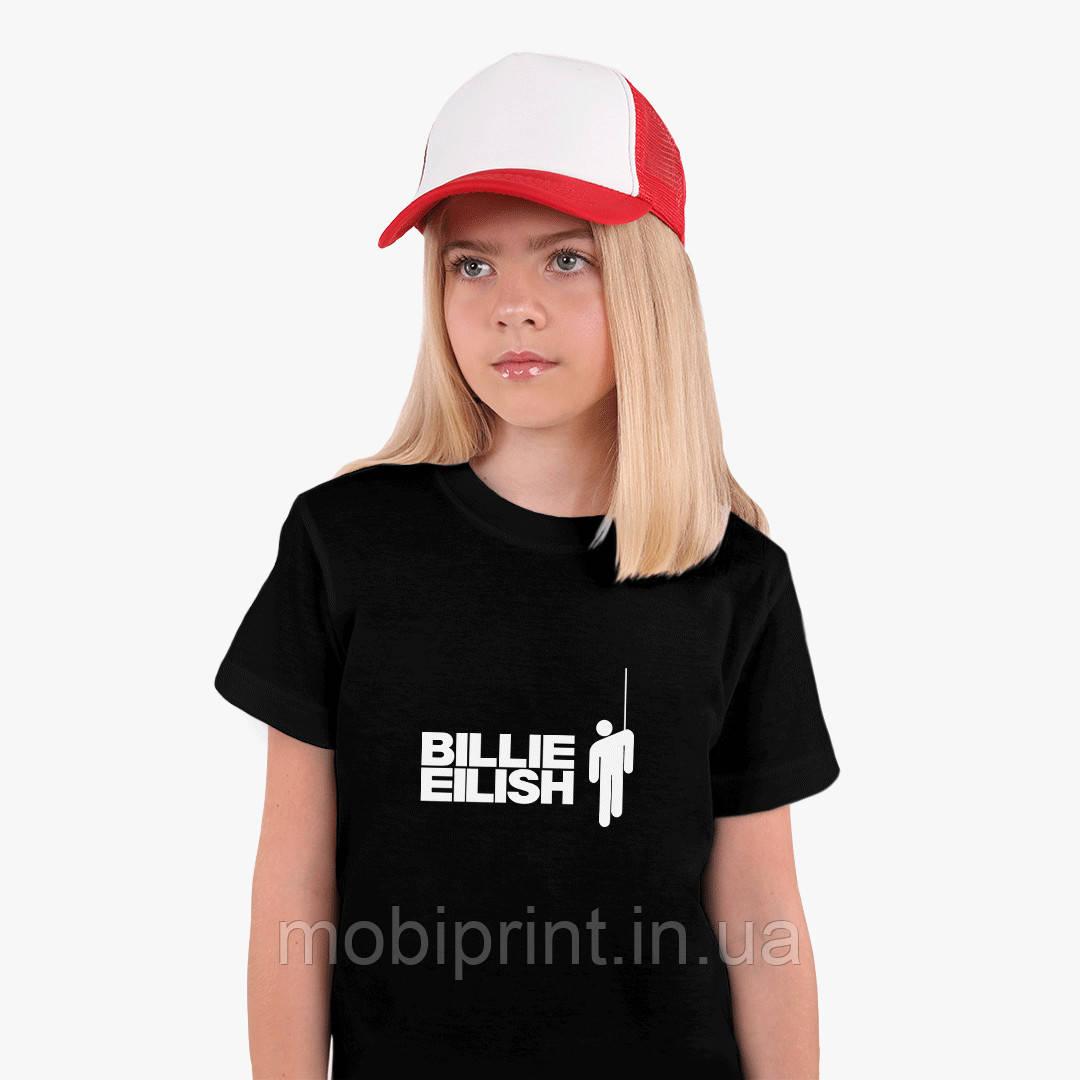 Детская футболка для девочек Билли Айлиш (Billie Eilish) (25186-1211) Черный