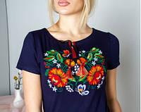 """Вышиванка с коротким рукавом """"Мазурка"""" женская футболка вышиванка подростковая"""