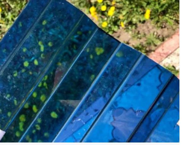 Профільний полікарбонат Suntuf (1,26х2м) 55% синій 0.8мм
