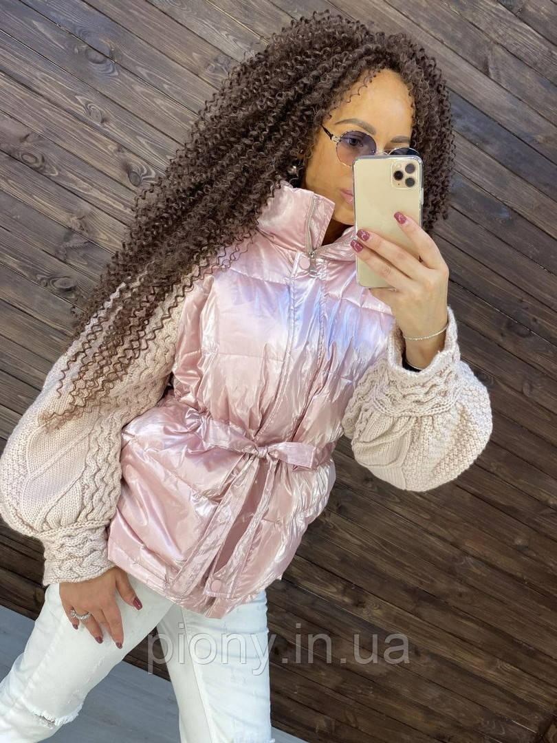Женская Стильная Куртка-Пуховик