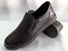 Осенние кожаные комфортные туфли Detta