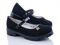 Детские черные туфли на девочку с каблуком. Размер 36, 37.