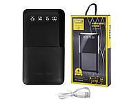 Power Bank JS 191 10000mAh 2USB 1A 2A цифровой дисплей с подсветкой фонарик 2LED