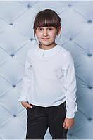"""Классическая белая блуза школьная для девочек """"Анджелина"""""""