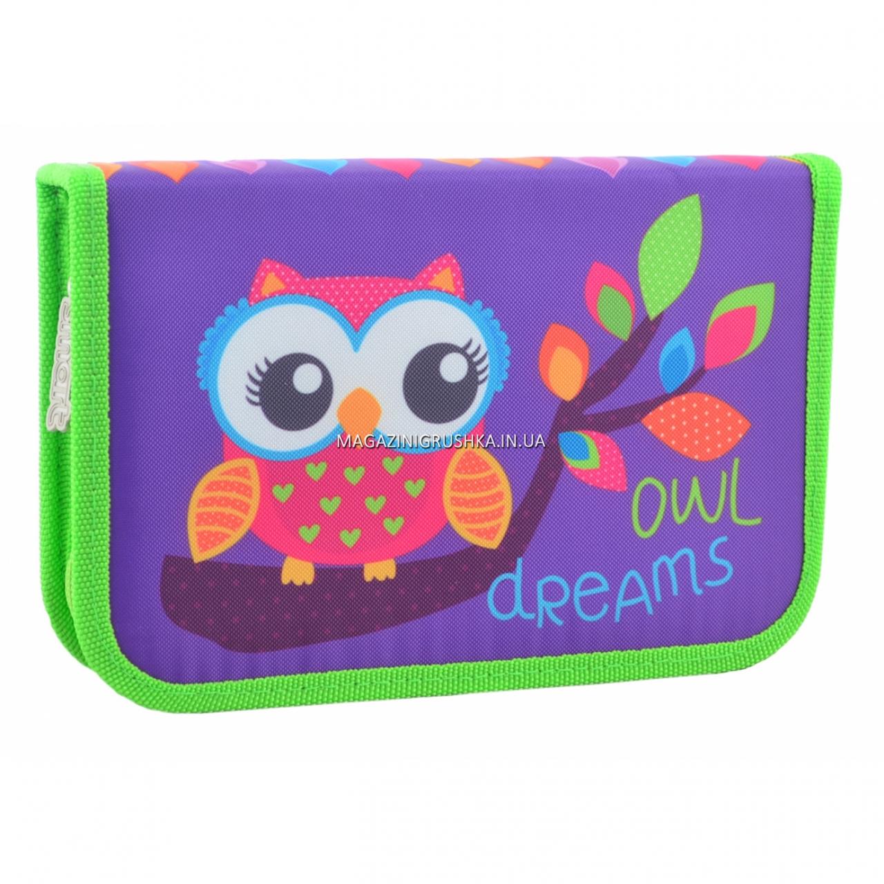 Пенал твердий Smart одинарний Owl Фіолетовий (531658)