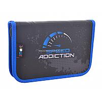 Пенал твердый Smart одинарный Speed addiction Серый с синим (531748), фото 3
