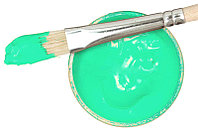 Заготовка для Бизиборда Краска БИРЮЗОВАЯ Акриловая Эмаль - 2 мл Акрил Бирюза для Покраски Деревянных Деталей