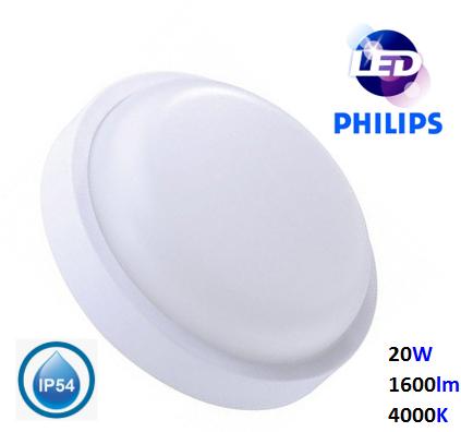 Светильник LED влагозащищенный PHILIPS 20W 1600Lm 4000K IP-54