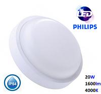 Светильник LED влагозащищенный PHILIPS 20W 1600Lm 4000K IP-54, фото 1