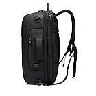 Рюкзак-сумка трансформер Ozuko 9225 Чорний, фото 4