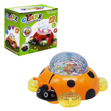 Музыкальная игрушка Божья коровка с 3D светом MiC (2027B), фото 2