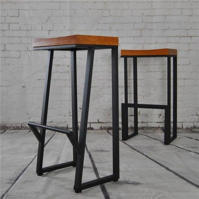 Барные металлические стулья для кафе