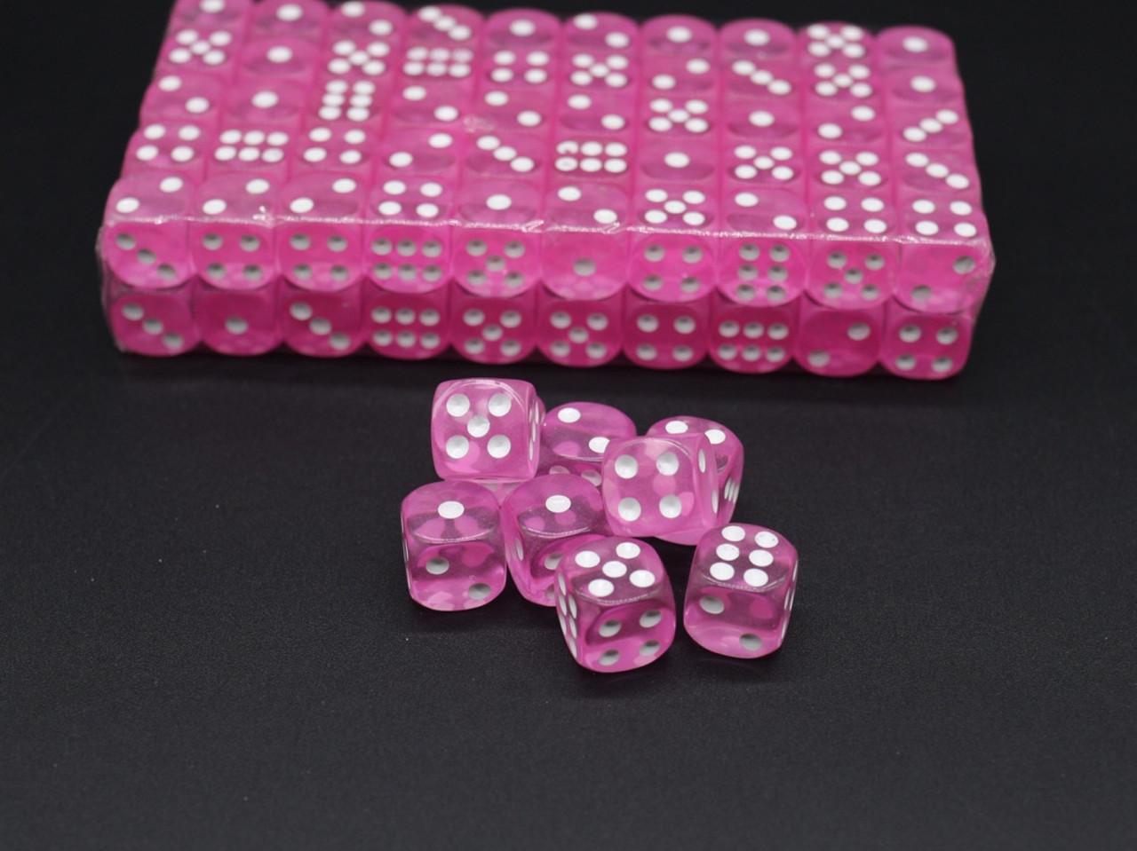 Кости игральные. Цвет розовый. 14мм