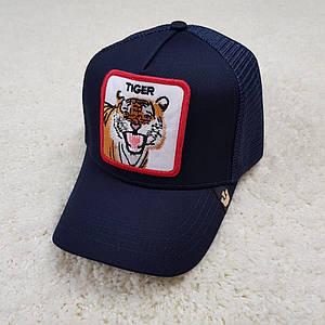 Кепка/бейсболка Goorin Brothers Tiger/тигр темно-синий