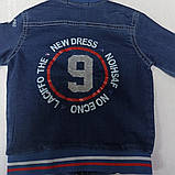 Куртка для мальчика джинсовая с карманами., фото 2