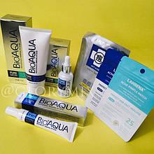 Акционный набор для проблемной кожи BIOAQUA Pure Skin, Анти-акне, + Патчи от акне Lanbena Acne Pimple Patch