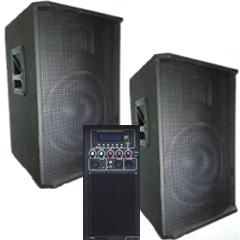 Колонки BIG SET2*15-500A активная + пассивная-USB/MP3/FM/BT