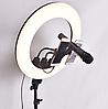 Кольцевая селфи лампа 45 см для макияжа на штативе Ring Light ZB-R18 / 60W