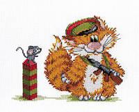 Набір для вишивки хрестом М.П.Студія НВ-354 «Рудий кіт. Прикордонник»
