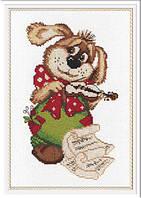 Набор для вышивки крестом М.П.Студия НВ-220 «Собачка со скрипкой»