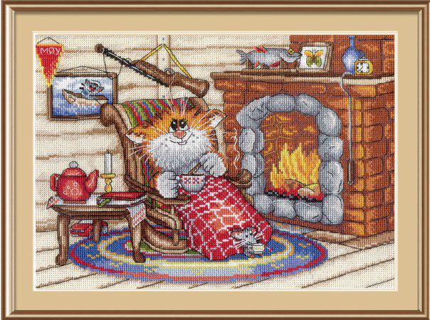Набор для вышивки крестом М.П.Студия НВ-521 «Уютный вечер»