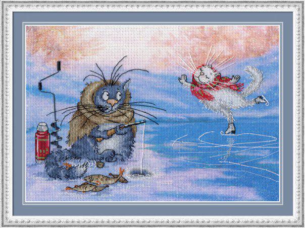 Набор для вышивки крестом М.П.Студия РК-506 «Ах ты, зимушка-зима»