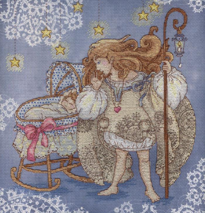 Набор для вышивки крестом М.П.Студия РК-513 «Оберегая детский сон»