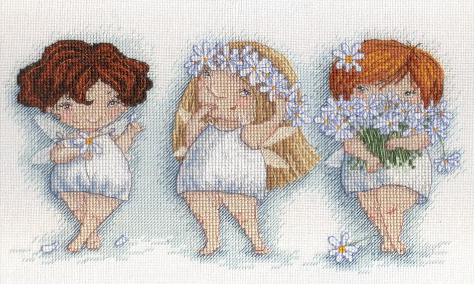 Набор для вышивки крестом М.П.Студия НВ-550 «Расцвели в саду ромашки»