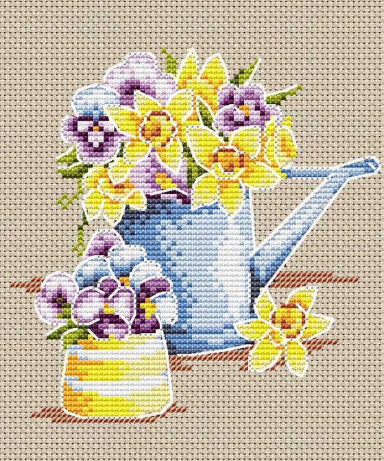 Набір для вишивки хрестом М.П.Студія М-017 «Феєрія квітів»