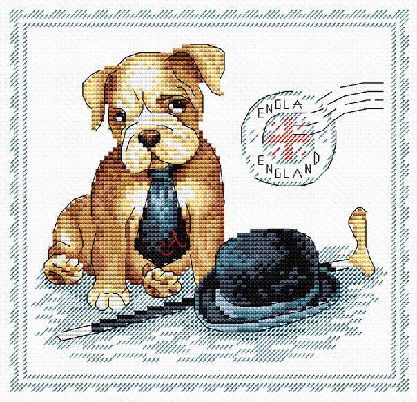 Набор для вышивки крестом М.П.Студия М-068 «Мой верный друг Англия»