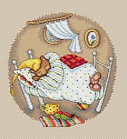 Набор для вышивки крестом М.П.Студия М-180 «Мишкины сны»