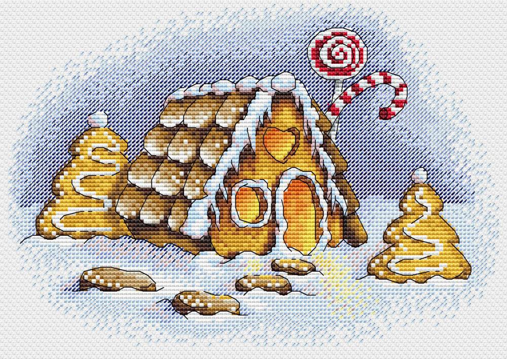 Набір для вишивки хрестом М.П.Студія М-192 «Пряникова зима»