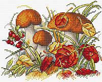 Набор для вышивки крестом М.П.Студия М-193 «Дары осеннего леса»