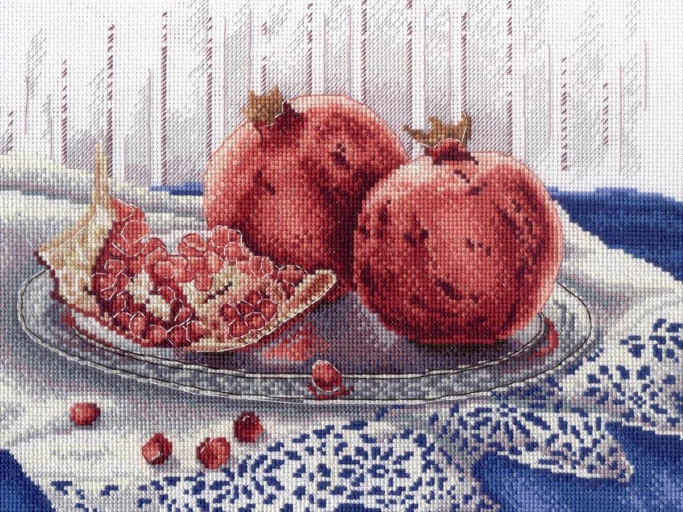 Набір для вишивки хрестом М.П.Студія НВ-529 «Гранатове настрій»