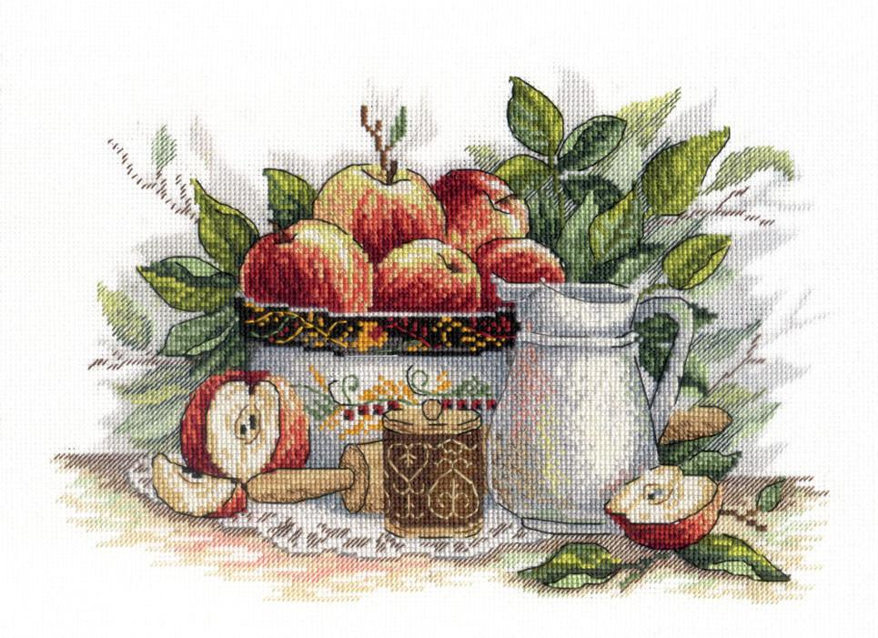 Набор для вышивки крестом М.П.Студия НВ-537 «Яблочный спас»