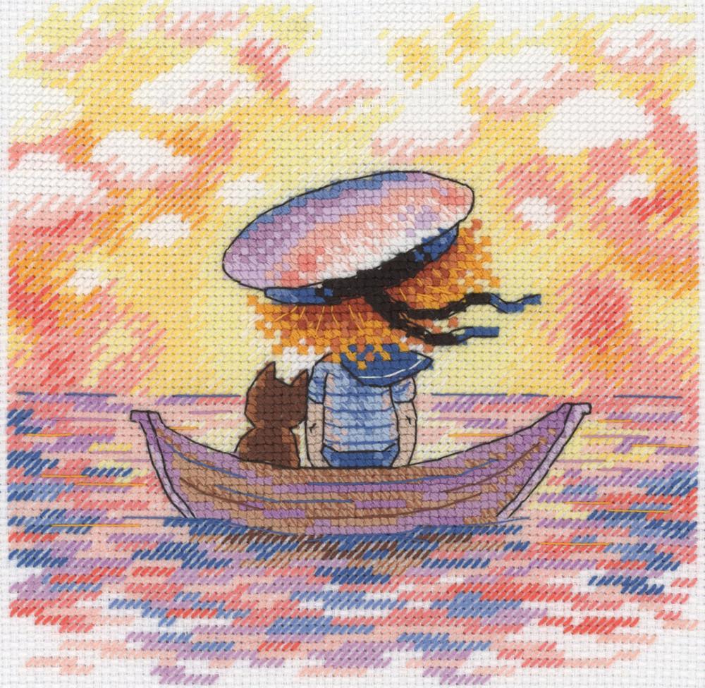 Набор для вышивки крестом М.П.Студия НВ-616 «Уплывая в закат»