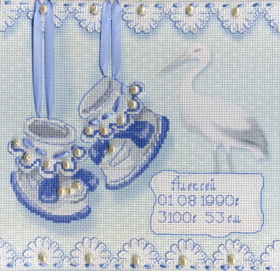 Набір для вишивки хрестом М.П.Студія РК-314 «Метрика пінетки (М)»